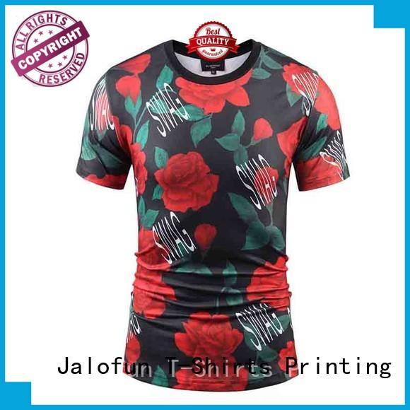 Jalofun transfer customized tee shirts factory for outdoor activities