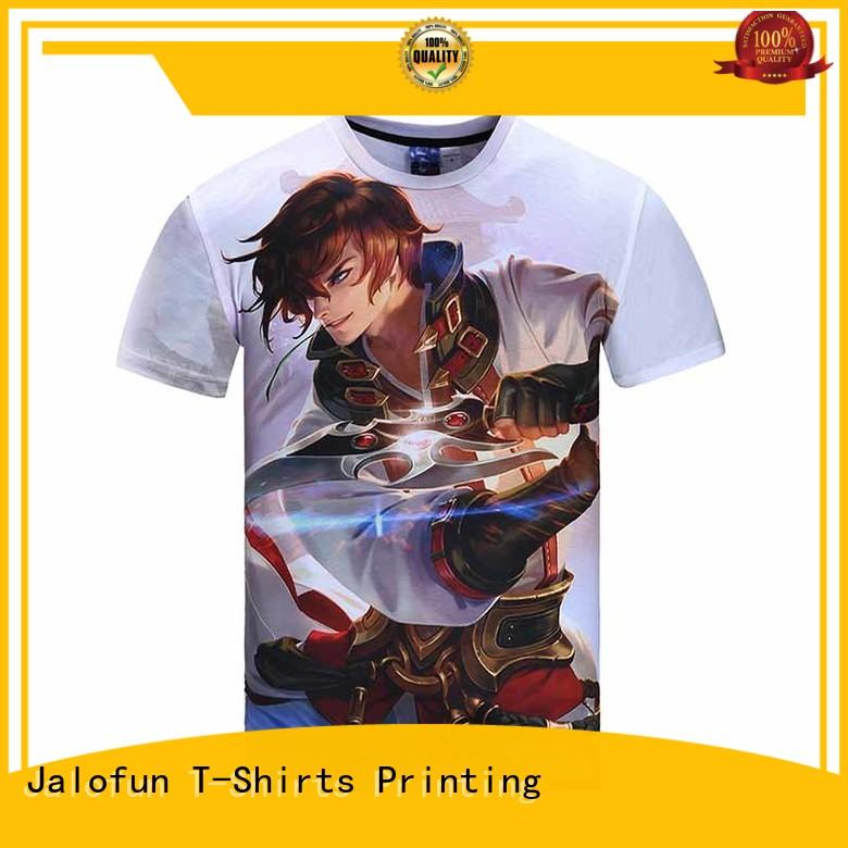 Jalofun polyester bespoke t shirt printing factory for travel