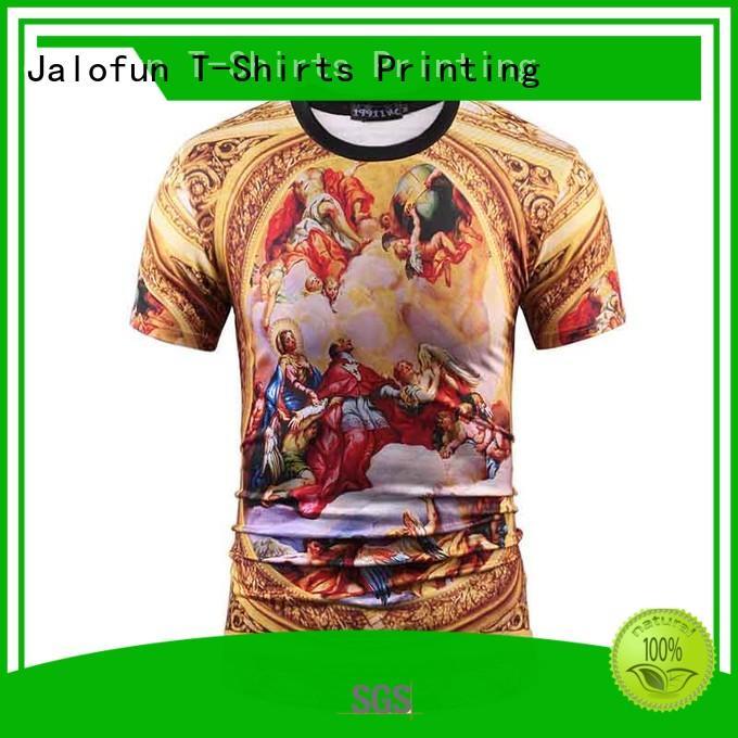 Jalofun cotton custom logo shirts for business for travel