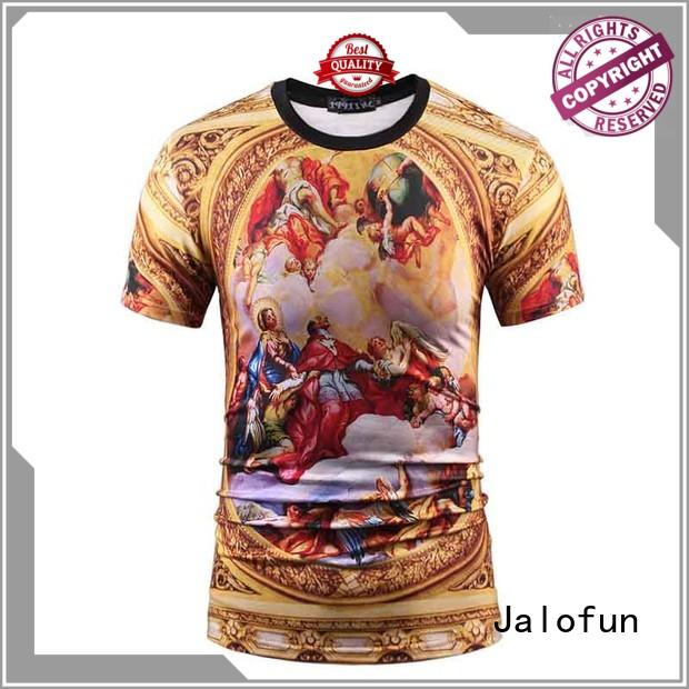 Jalofun professional custom embroidered t shirts company for work clothes