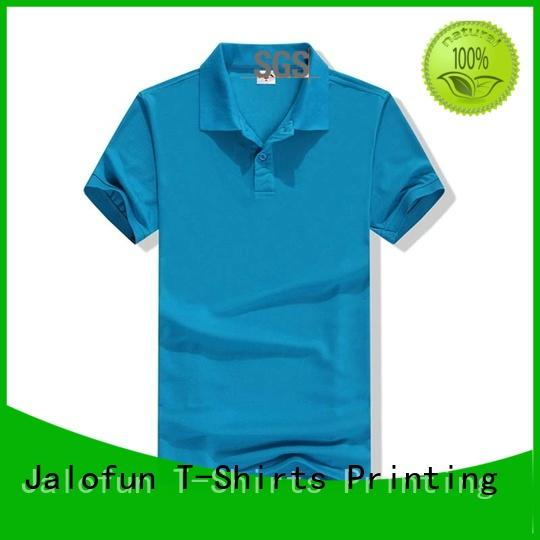 Jalofun custom logo pique polo suppliers for summer
