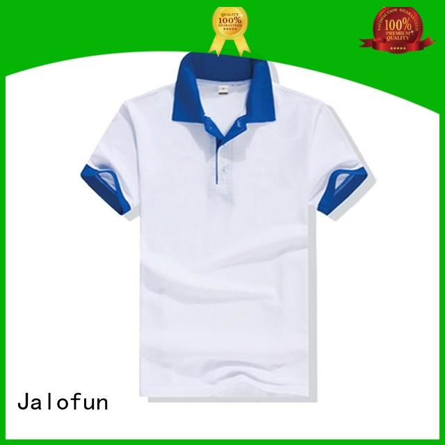 Jalofun round cotton polo shirts for business for outdoor activities
