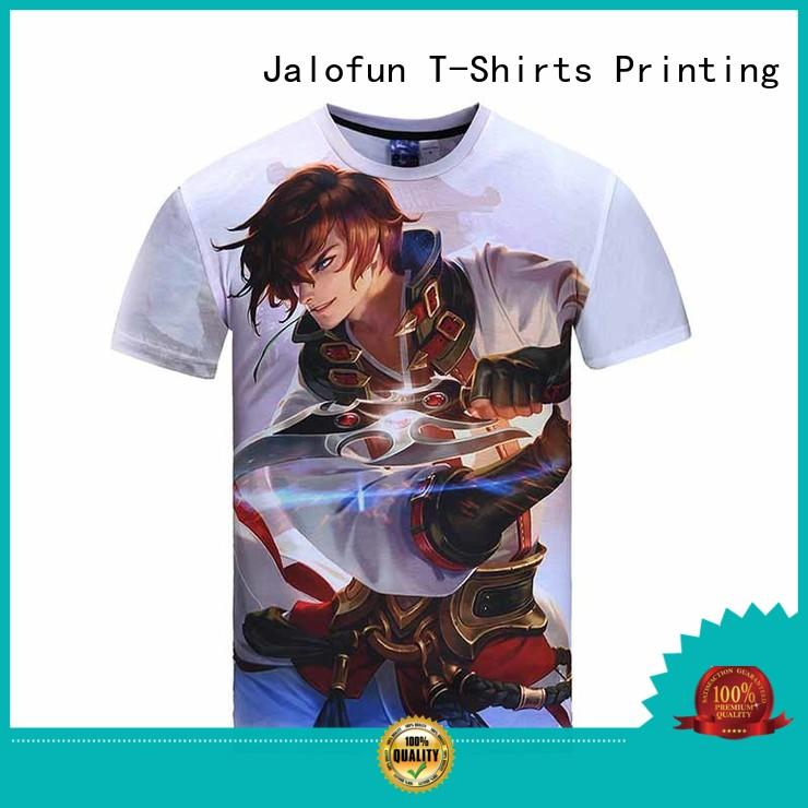 Jalofun printed customized tee shirts suppliers for work clothes