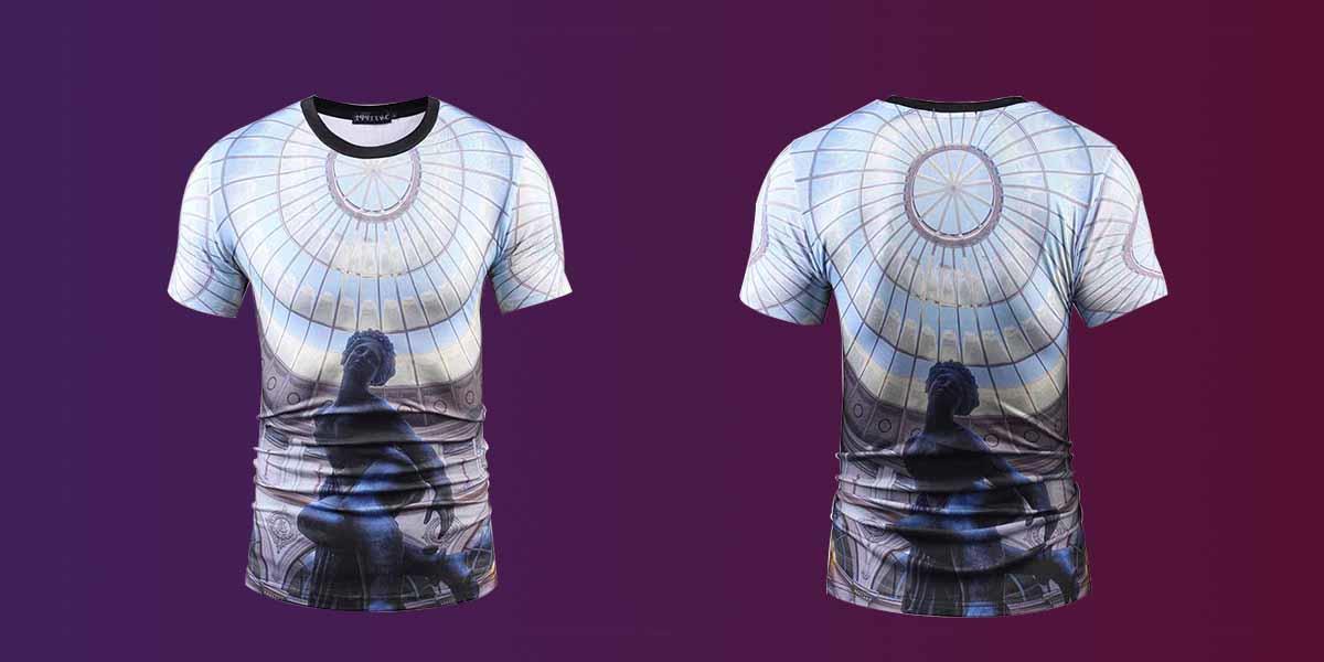 Custom sublimation printing t shirt tshirt company for travel-1