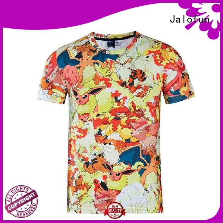 Jalofun cheap custom bespoke t shirt printing supply for sport
