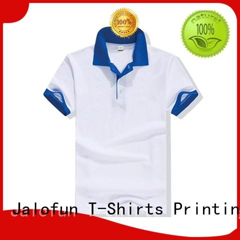 Jalofun custom logo pique polo factory for summer