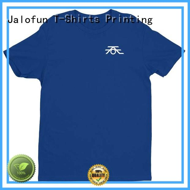 Jalofun cheap custom cotton t shirt for sale for spring