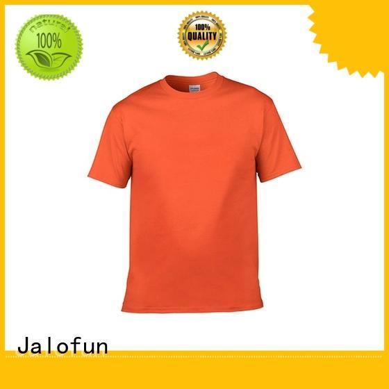 Jalofun Latest custom embroidered t shirts factory for man