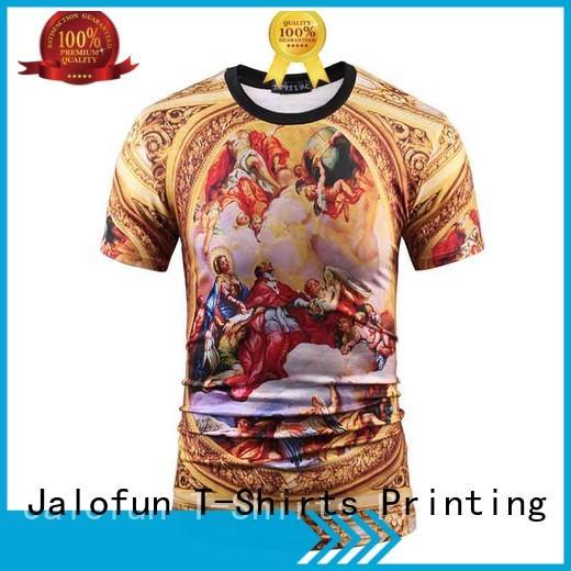 Jalofun short sleeve custom embroidered t shirts company for travel