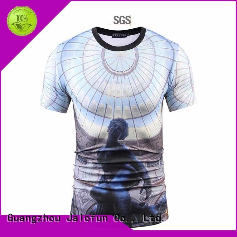 Jalofun unique design tee shirt maker bulk production for leisure time