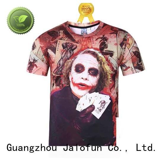 Jalofun printed custom logo shirts suppliers for sport