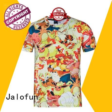 Jalofun stylish design custom embroidered t shirts suppliers for leisure time