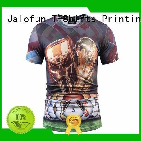 Jalofun printing cotton t shirt company for man