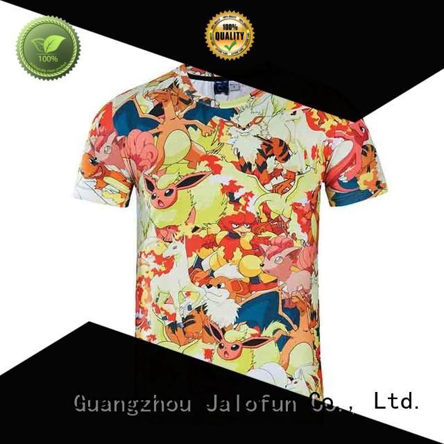 Jalofun bespoke custom prints shirts supply for travel