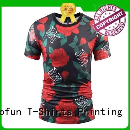 Jalofun quality custom tee shirt printing from manufacturer for sport