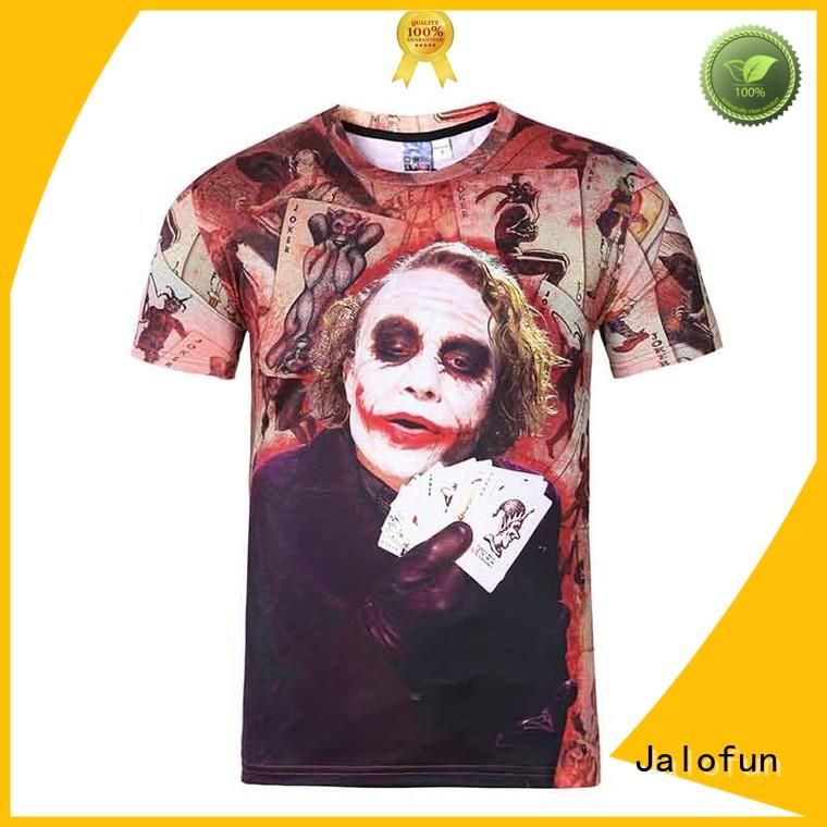 Jalofun new arrival custom embroidered t shirts quality for summer