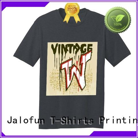 Jalofun stylish design cotton t shirt company for travel