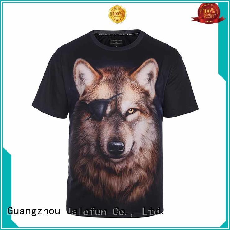 Jalofun printing customized shirts supply for leisure time