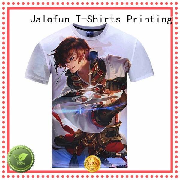 Jalofun printing tee shirt printing suppliers for class uniform