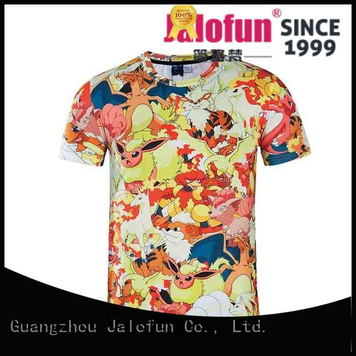 Jalofun polyester printing shirt manufacturers for travel