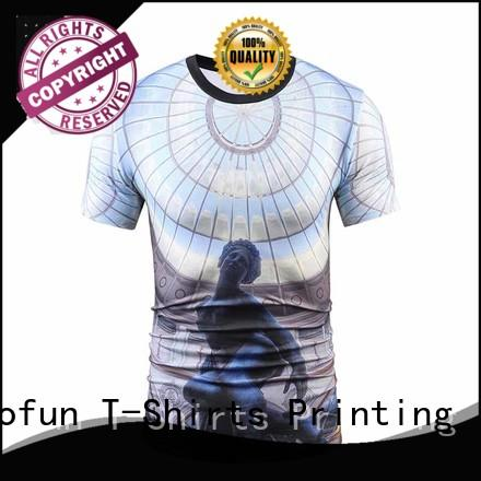 Custom sublimation printing t shirt tshirt company for travel
