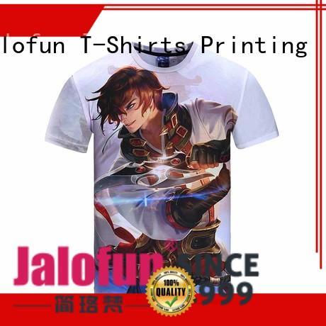 Jalofun O neck direct to garment t shirts bulk production for sport