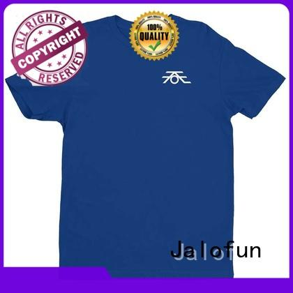 Jalofun new arrival custom printing cotton t shirt tee for class uniform
