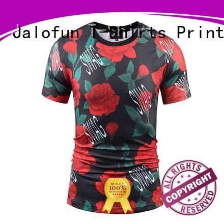 Jalofun high quality sublimation printing t shirt bulk production for leisure time